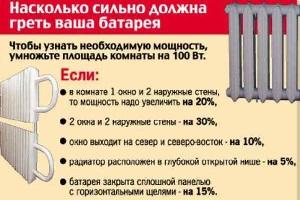расчёт количества батарей для дома